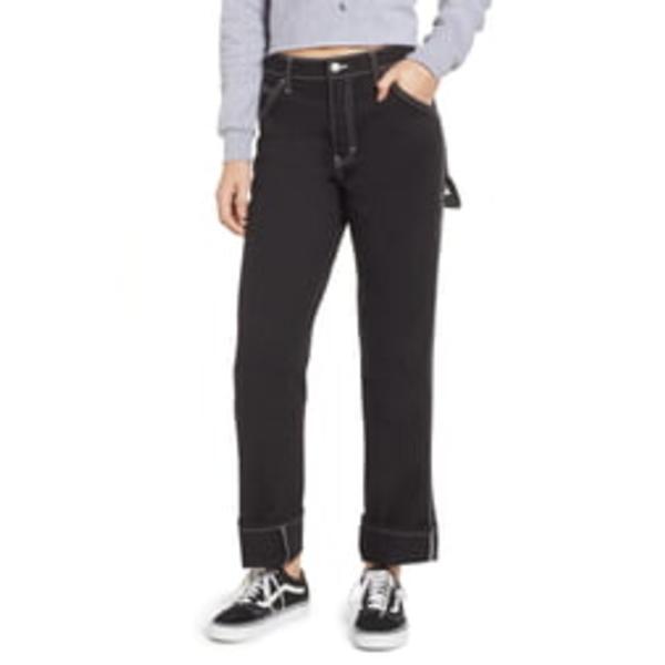 ディッキーズ レディース カジュアルパンツ ボトムス Relaxed Fit Carpenter Pants Black