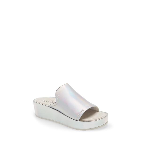 ネイキッドフィート レディース サンダル シューズ Reno Platform Slide Sandal Silver Leather