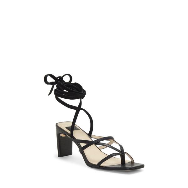 ルイスエシー レディース サンダル シューズ Lehana Wraparound Ankle Strap Sandal Black Leather