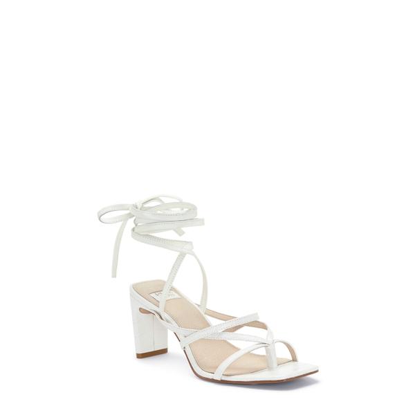 ルイスエシー レディース サンダル シューズ Lehana Wraparound Ankle Strap Sandal Optic White Leather