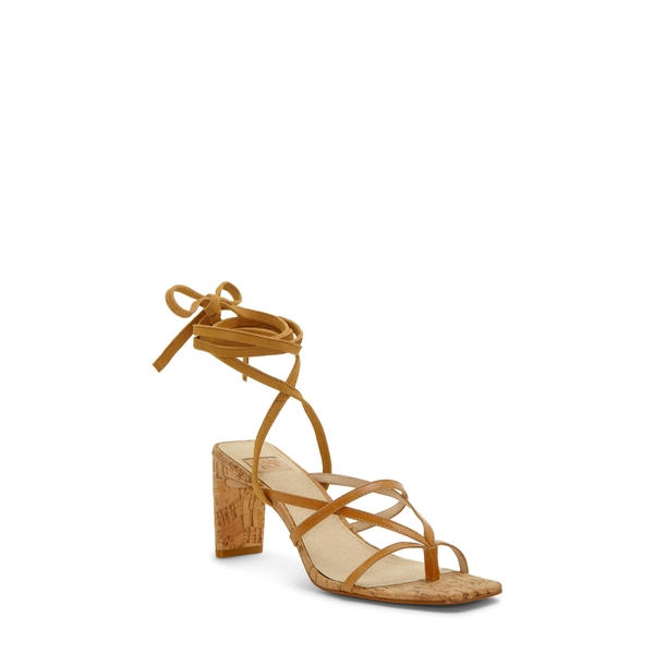 ルイスエシー レディース サンダル シューズ Lehana Wraparound Ankle Strap Sandal True Tan Leather/ Suede