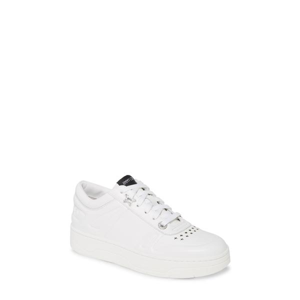 ジミーチュウ レディース スニーカー シューズ Hawaii Leather Lace-Up Sneaker White
