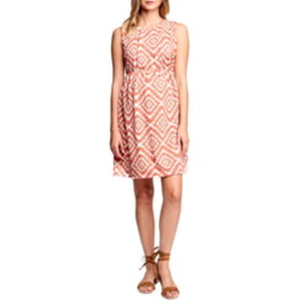 マターナルアメリカ レディース ワンピース トップス Textured Maternity Dress Apricot Tapestry