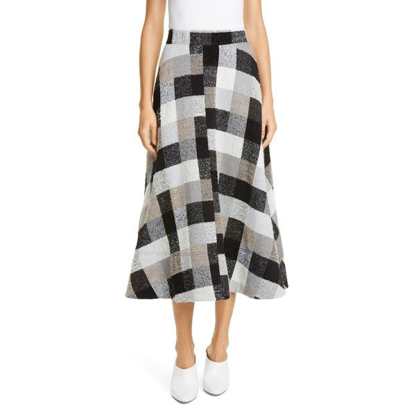 コー レディース スカート ボトムス Check Midi Circle Skirt Grey