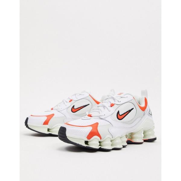 ナイキ レディース スニーカー シューズ Nike Shox TL Nova white and orange sneakers White/orange