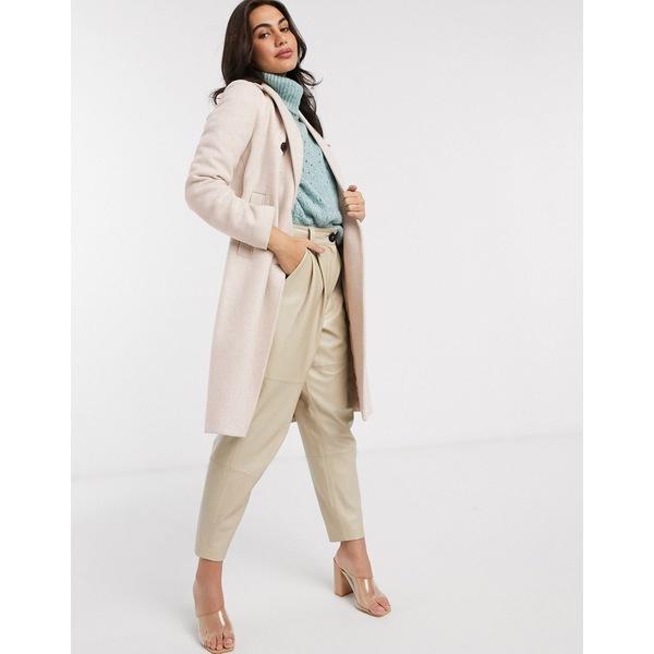 ストラディバリウス レディース コート アウター Stradivarius tailored longline coat in beige Beige