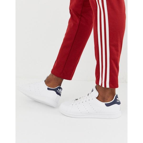 アディダスオリジナルス メンズ スニーカー シューズ adidas Originals Stan Smith leather sneakers in white m20325 White