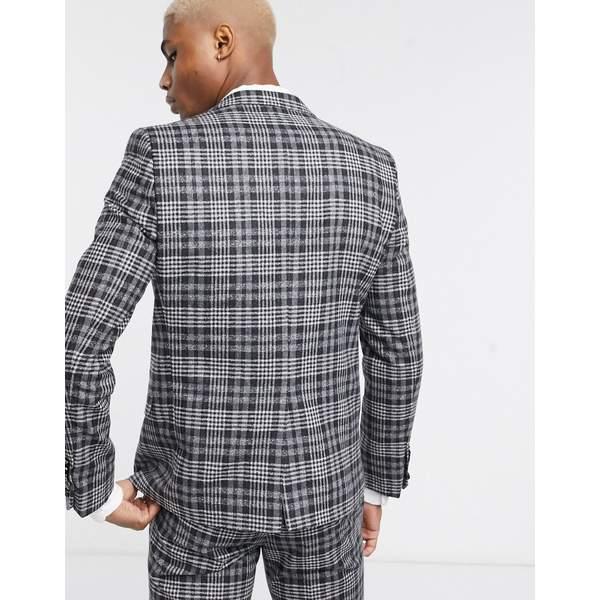 ツイステッドテイラー メンズ ジャケット&ブルゾン アウター Twisted Tailor suit jacket in gray check Gray