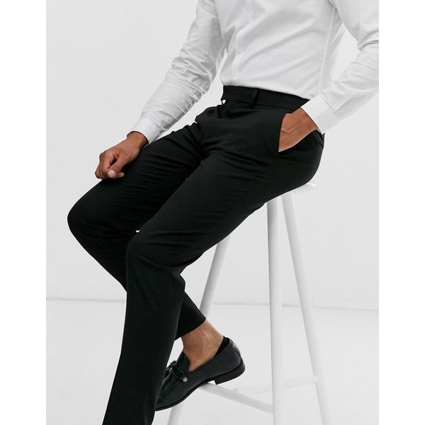 エイソス メンズ カジュアルパンツ ボトムス ASOS DESIGN skinny smart pants in black BlackdBWCEreQxo