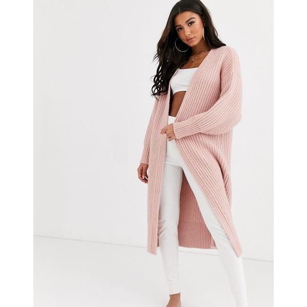 エイソス レディース カーディガン アウター ASOS DESIGN lounge premium oversized cardigan Pink