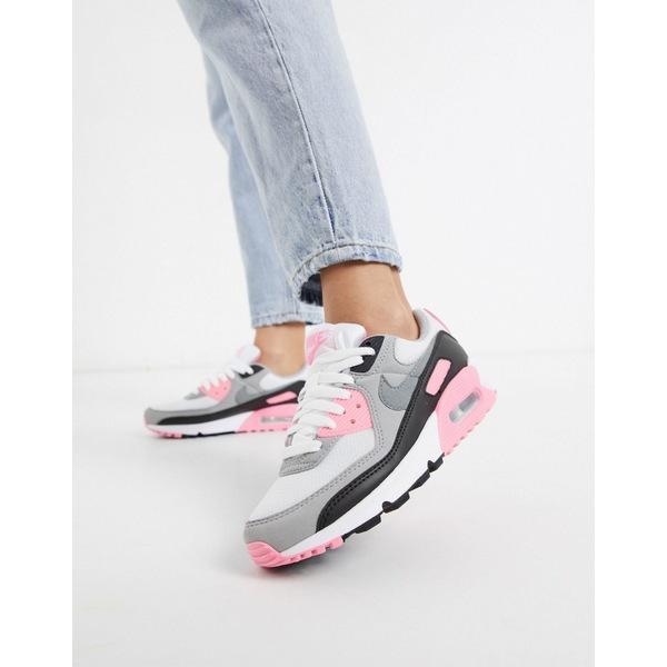 ナイキ レディース スニーカー シューズ Nike Air Max 90 white and pink sneakers White/pink