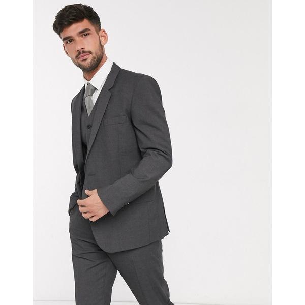 エイソス メンズ ジャケット&ブルゾン アウター ASOS DESIGN slim suit jacket in charcoal Charcoal