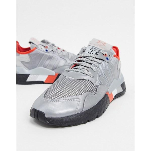 アディダスオリジナルス メンズ スニーカー シューズ adidas Originals Nite Jogger sneakers in silver Si1 - silver 1