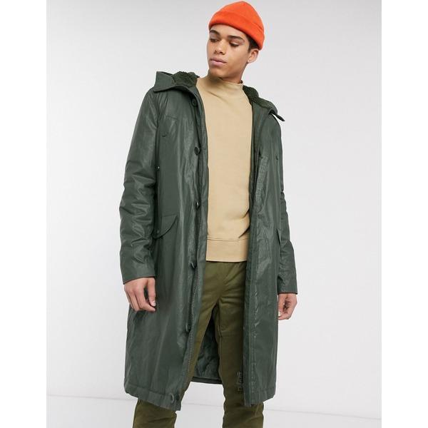 エイソス メンズ コート アウター ASOS DESIGN padded jacket in khaki Khaki