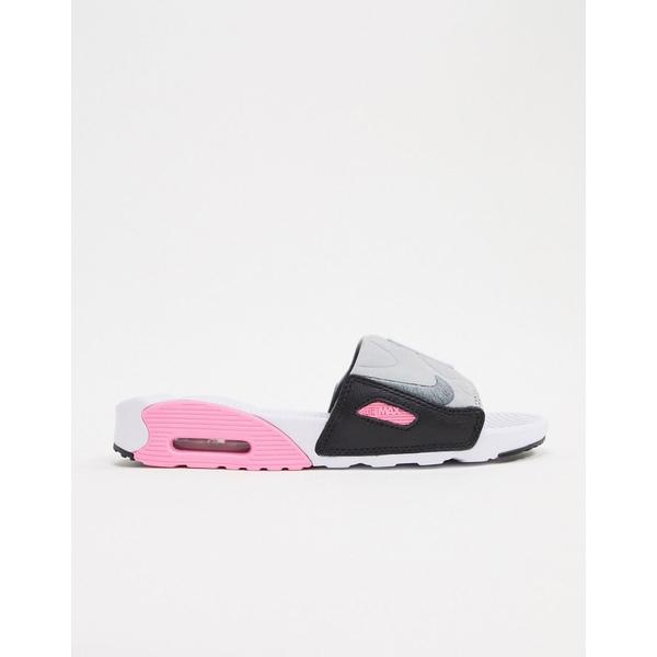 ナイキ レディース サンダル シューズ Nike Air Max gray and pink Sliders White/smoke gray