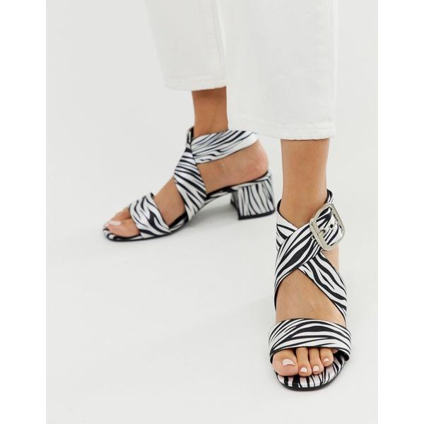 エイソス レディース サンダル シューズ ASOS DESIGN Hip Hop heeled sandals in zebra Zebra