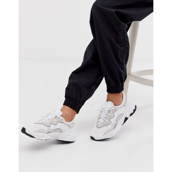 アディダスオリジナルス レディース スニーカー シューズ adidas Originals Ozweego sneakers in white Ftwr white/ftwr whit