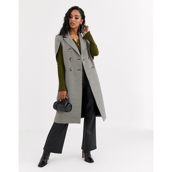 エイソス レディース コート アウター ASOS DESIGN formal check cape coat Heritage