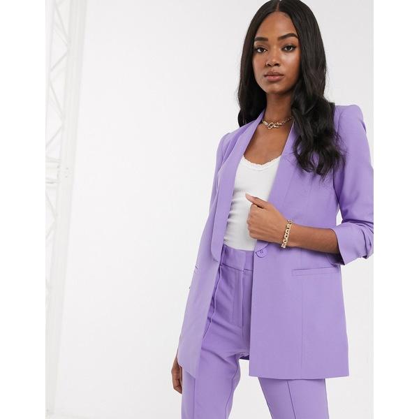 エイソス レディース ジャケット&ブルゾン アウター ASOS DESIGN mix & match tailored suit blazer Lilac
