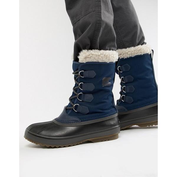 ソレル メンズ ブーツ&レインブーツ シューズ SOREL Pac nylon snow boots in blue Blue
