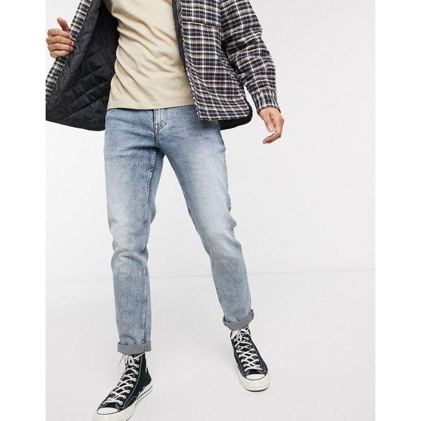 エイソス メンズ デニムパンツ ボトムス ASOS DESIGN stretch slim jeans in bleached out blue wash Bleach blue