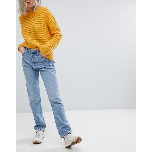 ウィークデイ レディース デニムパンツ ボトムス Weekday Line Vintage Look Straight Leg Jean Wow blue