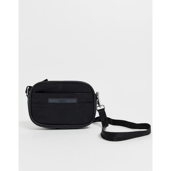 バガボンド レディース 財布 アクセサリー Vagabond Hong Kong black nylon camera cross body bag Black leather/nylon