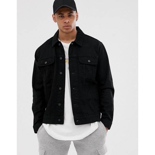 エイソス メンズ ジャケット&ブルゾン アウター ASOS DESIGN oversized denim jacket in black Black