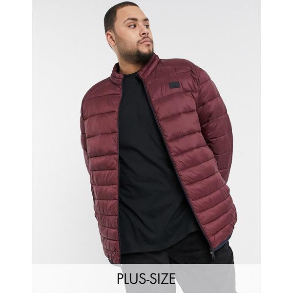 ジャック アンド ジョーンズ メンズ ジャケット&ブルゾン アウター Jack & Jones Essentials plus size padded jacket in red Port royale