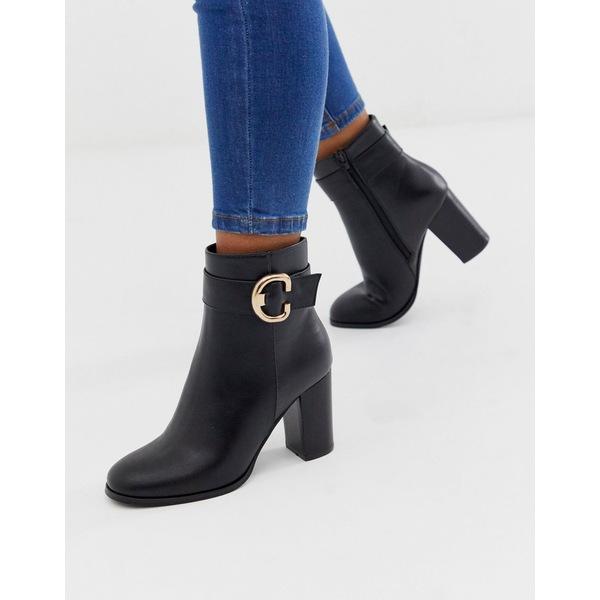 エイソス レディース ブーツ&レインブーツ シューズ ASOS DESIGN Relay heeled ankle boots in black Black