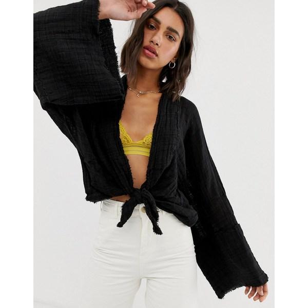 フリーピープル レディース ジャケット&ブルゾン アウター Free People Azalea kimono jacket Black