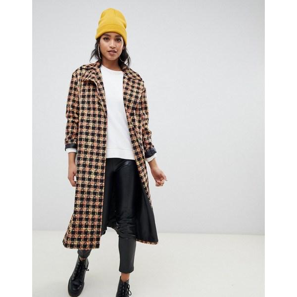 エイソス レディース コート アウター ASOS DESIGN boucle coat Multi