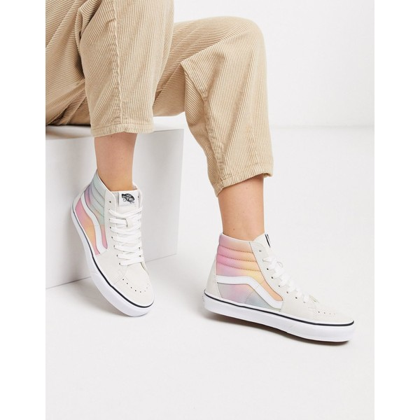 バンズ レディース スニーカー シューズ VansSK8-HI Tie Dye sneaker in white Aura shift multi/tru