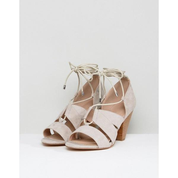 エイソス レディース ヒール シューズ ASOS TALI Lace Up Heeled Sandals Gray