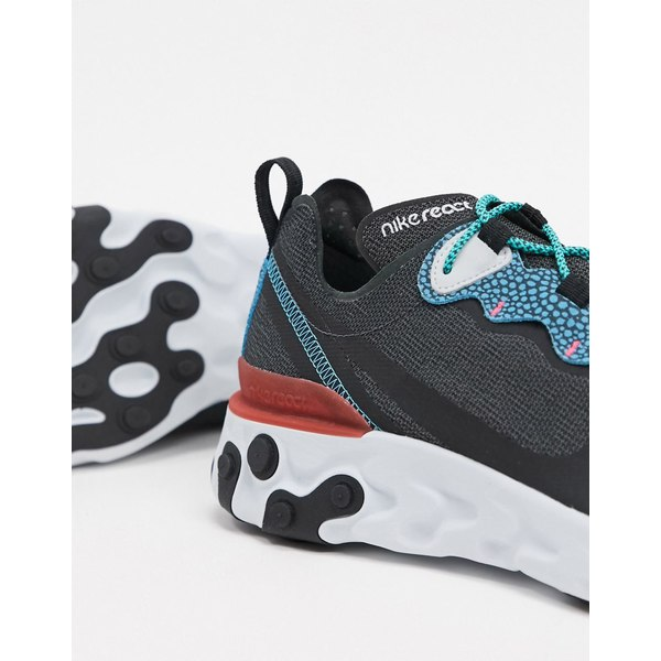 ナイキ メンズ スニーカー シューズ Nike React Element 55 sneakers in gray/blue Gray/blue