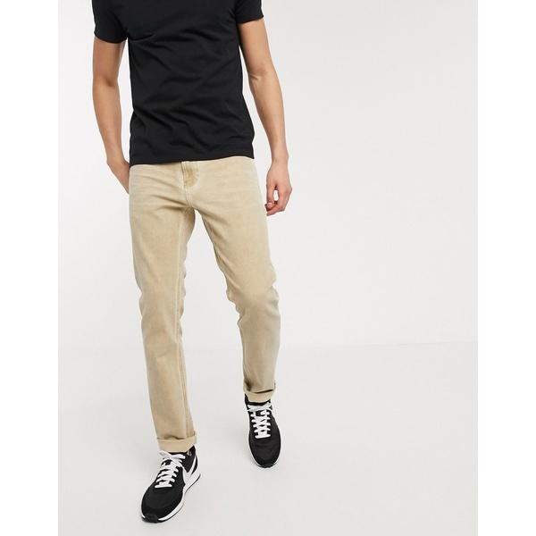 カルバンクライン メンズ デニムパンツ ボトムス Calvin Klein slim comfort jeans in bronx light Tan
