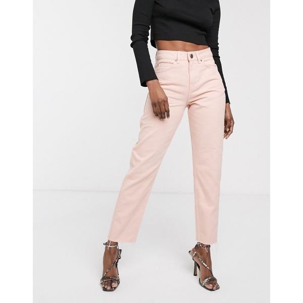 エイソス レディース デニムパンツ ボトムス ASOS DESIGN Ritson Original Mom jeans in washed pink Pink