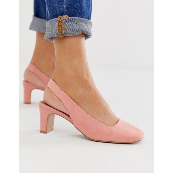 エイソス レディース ヒール シューズ ASOS DESIGN Serpent slingback mid heels Apricot