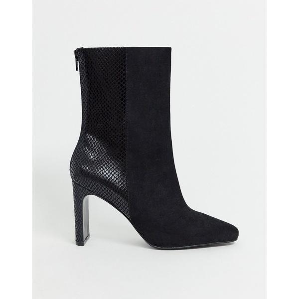 エイソス レディース ブーツ&レインブーツ シューズ ASOS DESIGN Eleanor high ankle boots in black Black mix