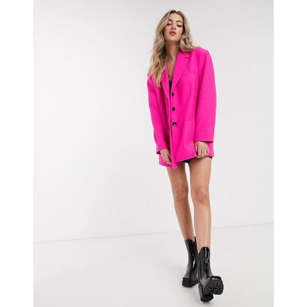 エイソス レディース ジャケット&ブルゾン アウター ASOS DESIGN extreme dad blazer in hot pink Hot pink