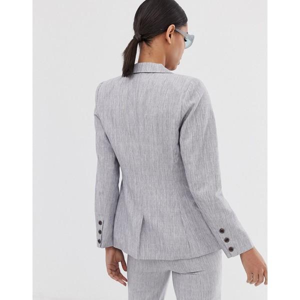 ファッションモンキー レディース ジャケット&ブルゾン アウター Fashion Union double breasted blazer two-piece Gray
