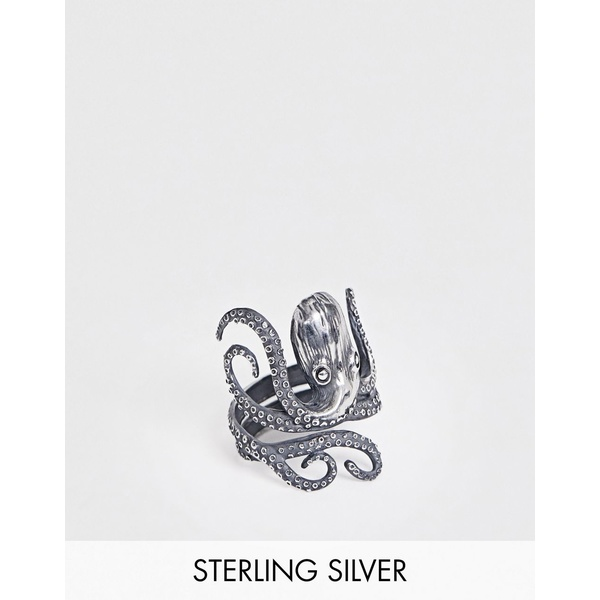 エイソス メンズ リング アクセサリー ASOS DESIGN sterling silver ring with octopus Silver