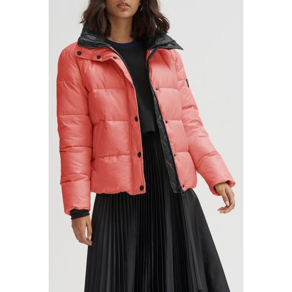 ノイズ レディース ジャケット&ブルゾン アウター Bianca Front Zip Puffer Jacket PINK