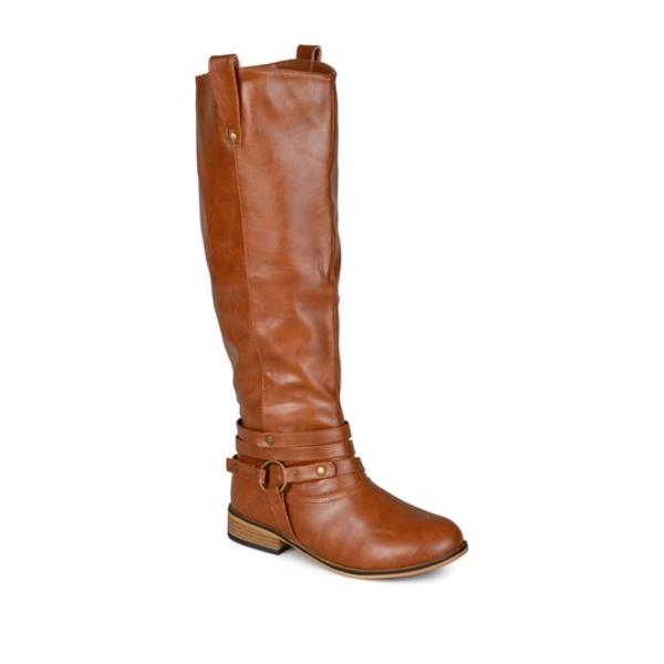 ジャーニーコレクション レディース ブーツ&レインブーツ シューズ Walla Harness Riding Boot - Extra Wide Calf CHESTNUT