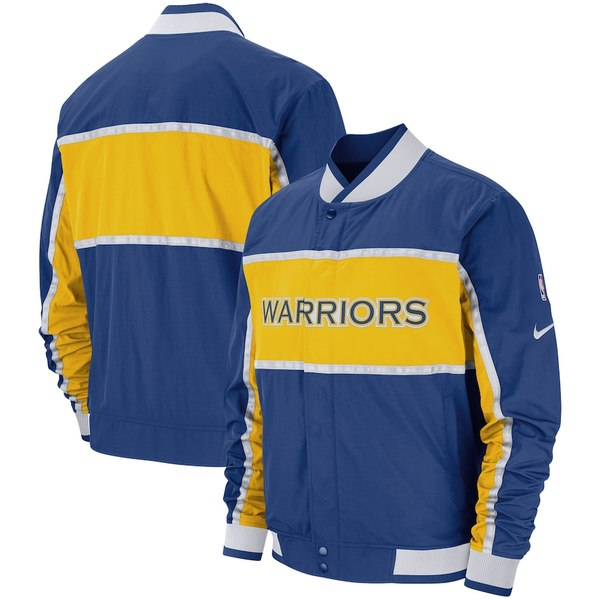 ナイキ メンズ ジャケット&ブルゾン アウター Golden State Warriors Nike Authentic Courtside Icon Full-Snap Jacket Royal