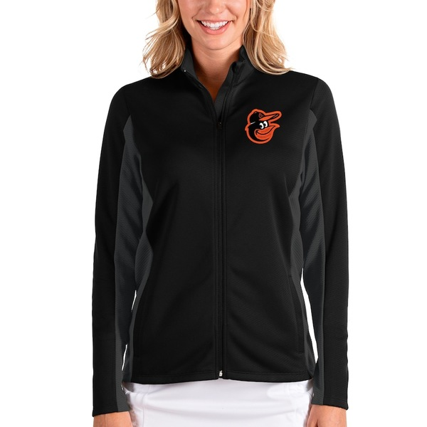 アンティグア レディース ジャケット&ブルゾン アウター Baltimore Orioles Antigua Women's Passage Full-Zip Jacket Black/Charcoal