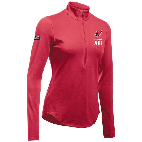 アンダーアーマー レディース ジャケット&ブルゾン アウター Arizona Cardinals Under Armour Women's Combine Authentic Favorites Performance Tri-Blend Half-Zip Pullover Jacket Cardinal