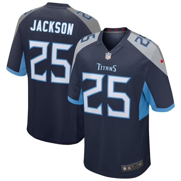 ナイキ メンズ シャツ トップス Adoree' Jackson Tennessee Titans Nike Game Jersey Navy