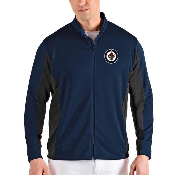 アンティグア メンズ ジャケット&ブルゾン アウター Winnipeg Jets Antigua Passage Full-Zip Jacket Navy/Gray