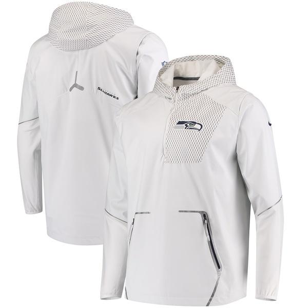 ナイキ メンズ ジャケット&ブルゾン アウター Seattle Seahawks Nike Champ Drive Vapor Speed Fly Rush Flash Half-Zip Pullover Jacket White
